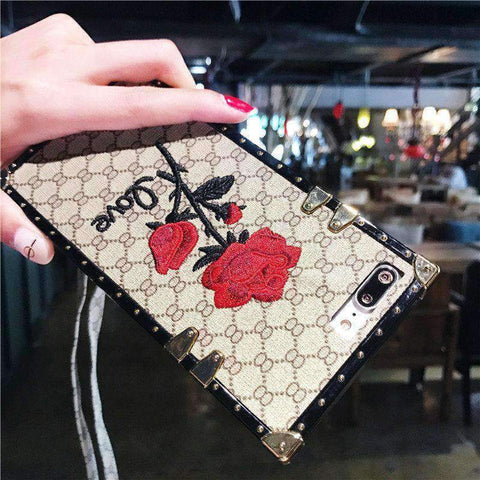 Rose Embroidered Phone Case for Samsung with Hand Strap gallery 9
