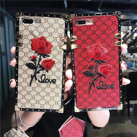 Rose Embroidered Phone Case for Samsung with Hand Strap gallery 4