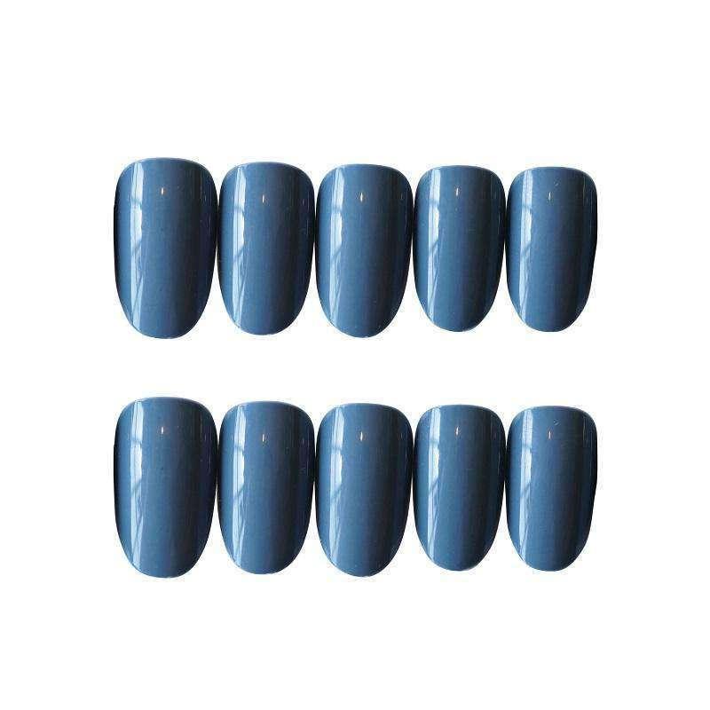 Ash Blue  Magic Press On Nail Manicure