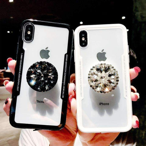Glitter Cute Phone Case for Samsung with Diamond Phone Holder gallery 3