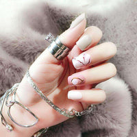 Chic Marble Pink Magic Press Nail Manicure