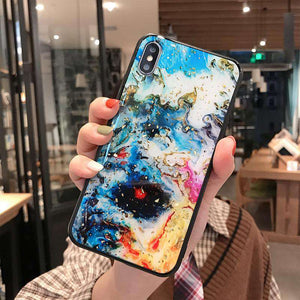Watercolor Painting Style Silica Gel Soft iPhone Case