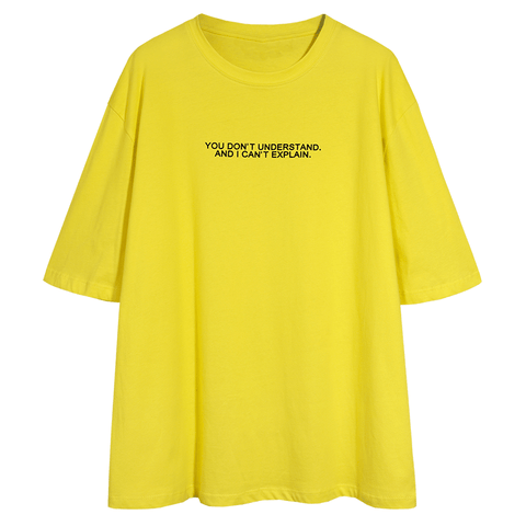 Letter Print Crew Neck Loose T Shirt gallery 6