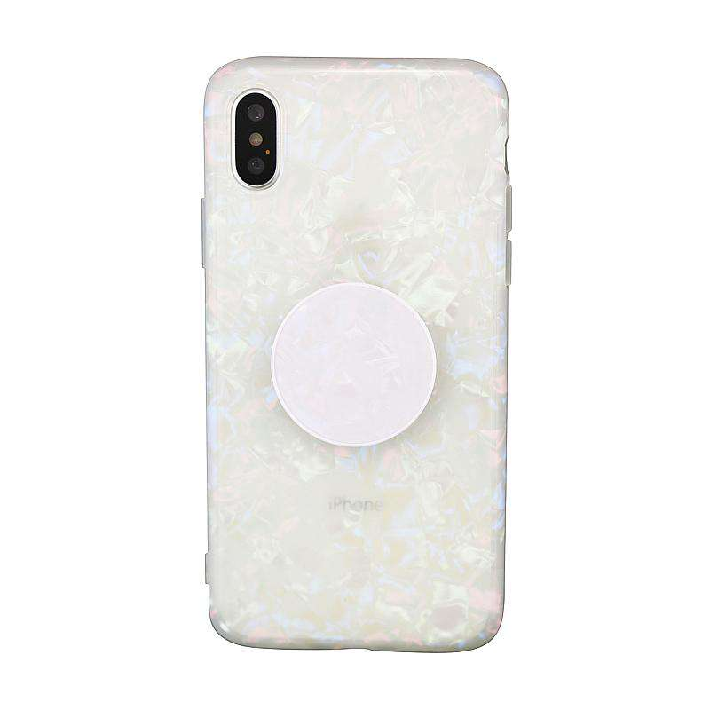 Silicone Gel Fantasy Shell Vibe iPhone Case with Phone Holder
