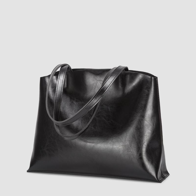 Round Top Soft Leather Hobo Tote Shoulder Bag