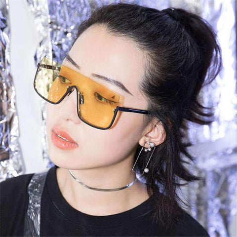 Chic Square Shape Windproof Lens with Half Frame Sunglasses gallery 5