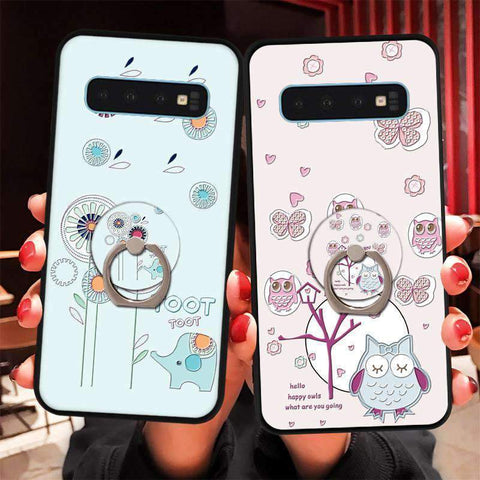 Cute Cartoon Phone Case with Ring for Samsung gallery 15