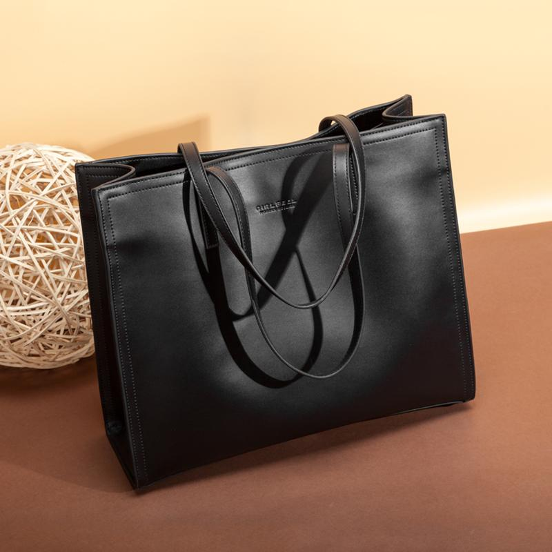 Square Carryall Leather Tote Bag