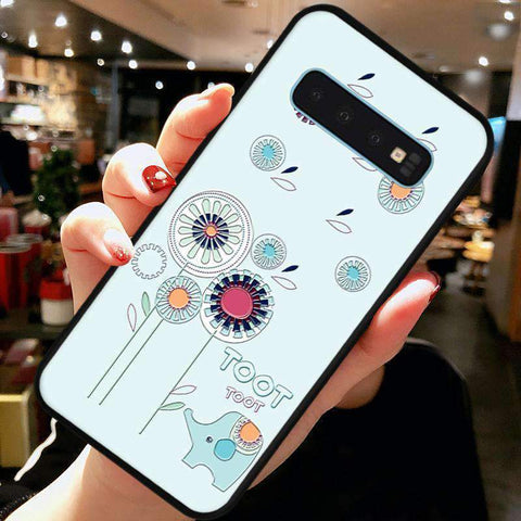 Cute Cartoon Phone Case with Ring for Samsung gallery 7