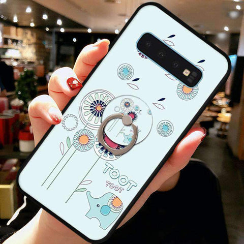 Cute Cartoon Phone Case with Ring for Samsung gallery 13