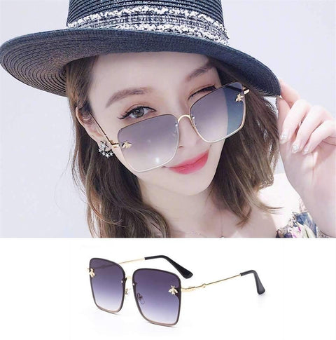 Chic Square Shape With Butterfly Side Street Fashion Sunglasses gallery 7