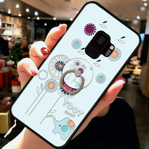 Cute Cartoon Phone Case with Ring for Samsung gallery 5
