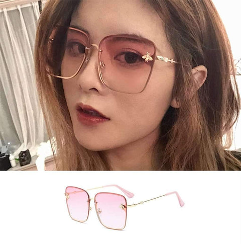 Chic Square Shape With Butterfly Side Street Fashion Sunglasses gallery 6