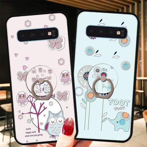 Cute Cartoon Phone Case with Ring for Samsung gallery 16