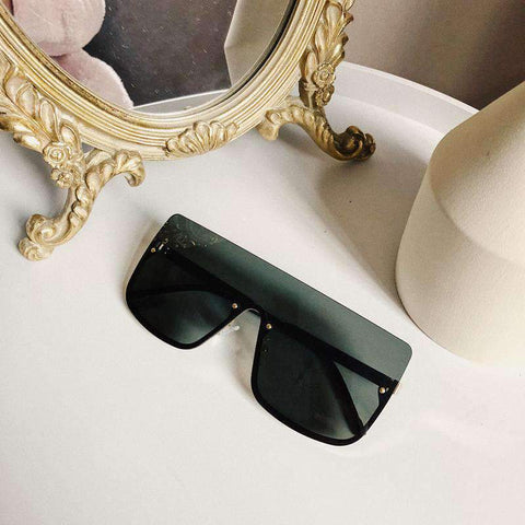 Chic Square Shape Windproof Lens with Half Frame Sunglasses gallery 8
