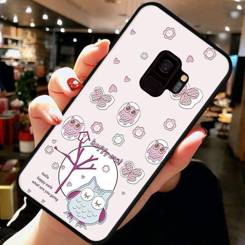 Cute Cartoon Phone Case with Ring for Samsung gallery 4