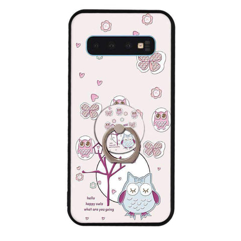 Cute Cartoon Phone Case with Ring for Samsung gallery 19