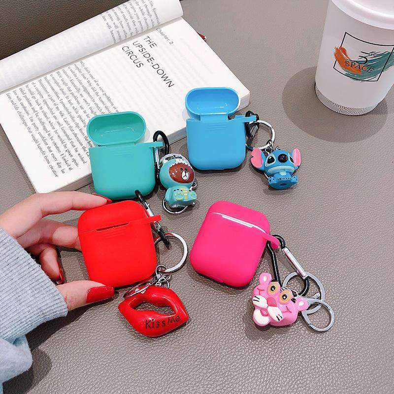 Cartoon Silicone Protective Cover Case for Apple Airpods