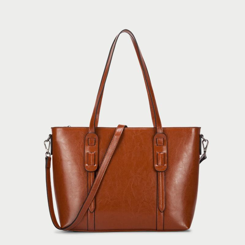 Carryall Smooth Leather Tote