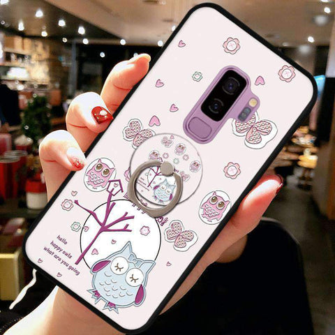 Cute Cartoon Phone Case with Ring for Samsung gallery 2