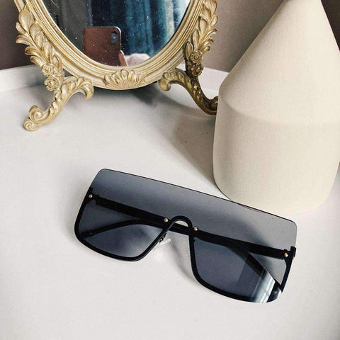 Chic Square Shape Windproof Lens with Half Frame Sunglasses gallery 12