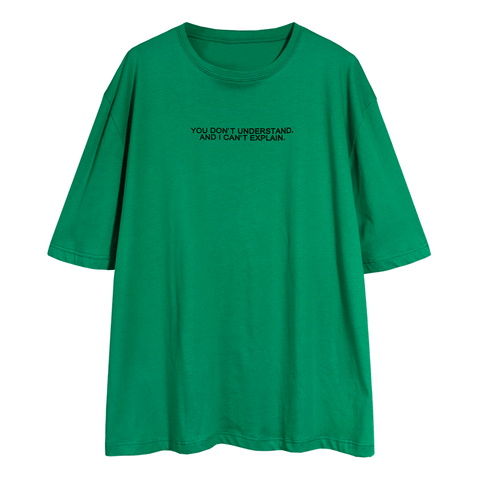 Letter Print Crew Neck Loose T Shirt gallery 7