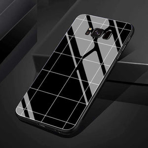 Concise Black and White Grid Phone Case for Samsung