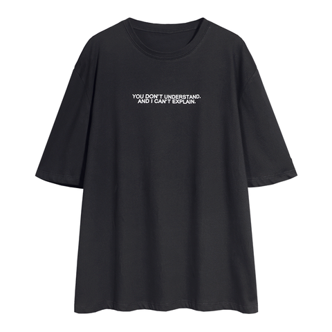 Letter Print Crew Neck Loose T Shirt gallery 2
