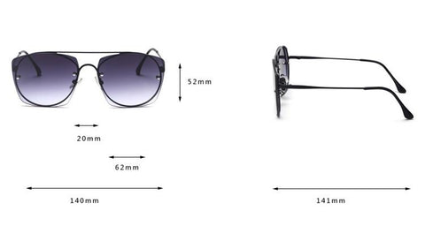 Chic Candy Color Square Shape Lens Street Fashion Sunglasses gallery 3