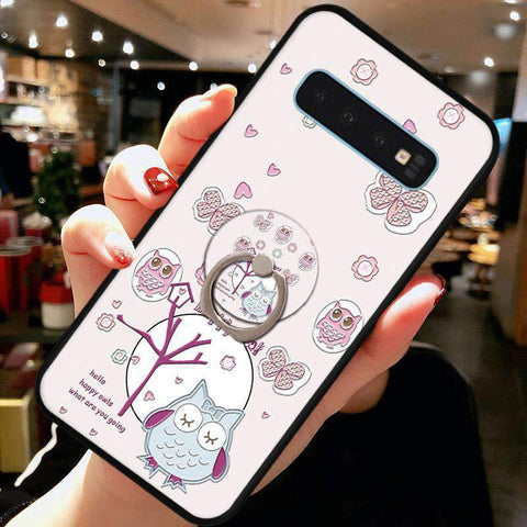Cute Cartoon Phone Case with Ring for Samsung gallery 10
