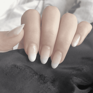 Chic French Gradient Magic Press On Nail Manicure