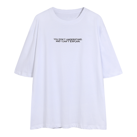 Letter Print Crew Neck Loose T Shirt gallery 3