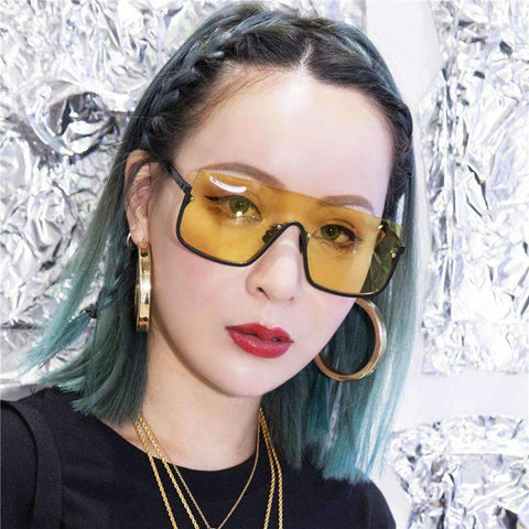 Chic Square Shape Windproof Lens with Half Frame Sunglasses gallery 9