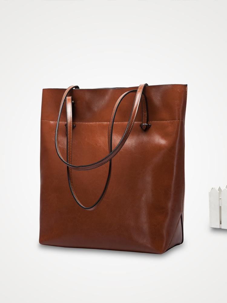 Vertical Tote North South Shopper Bag