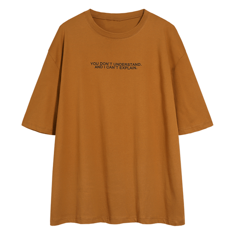 Letter Print Crew Neck Loose T Shirt gallery 5