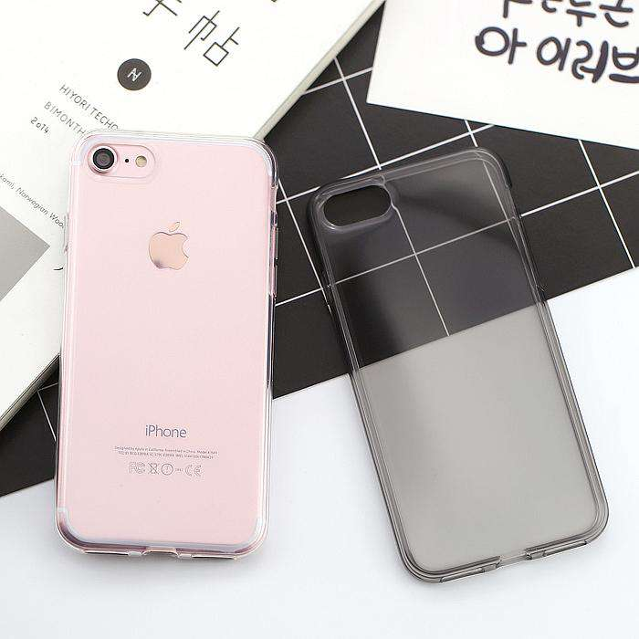 Super Slim Transparent Pure Color Soft Silicone Gel Case For iPhone