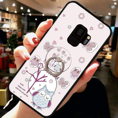 Cute Cartoon Phone Case with Ring for Samsung gallery 6