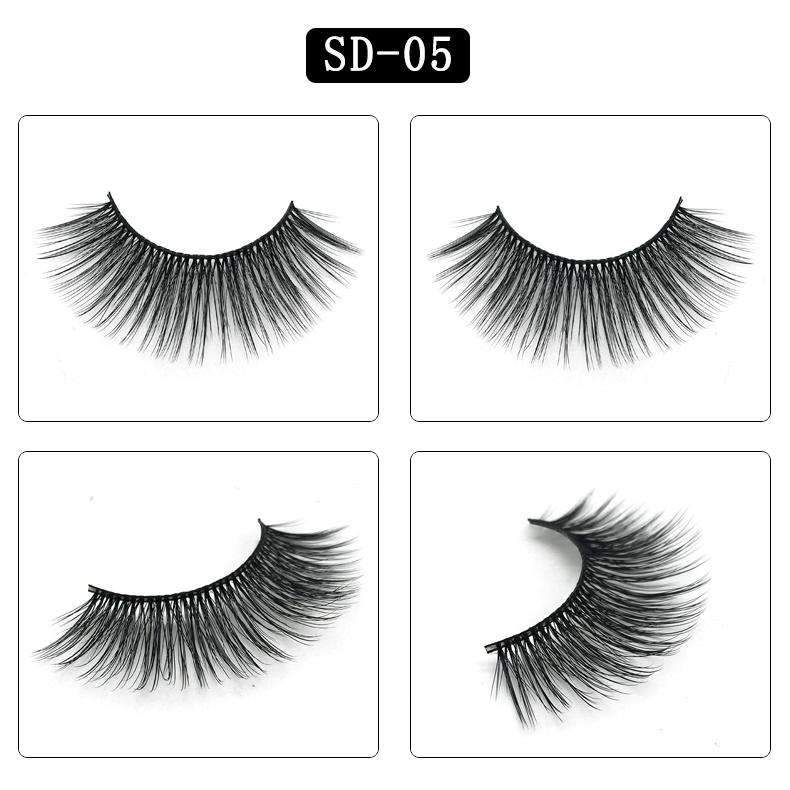 Mink Hair Natural Looking False Fake Eyelashes Cross Thick Eye Lashes sd05