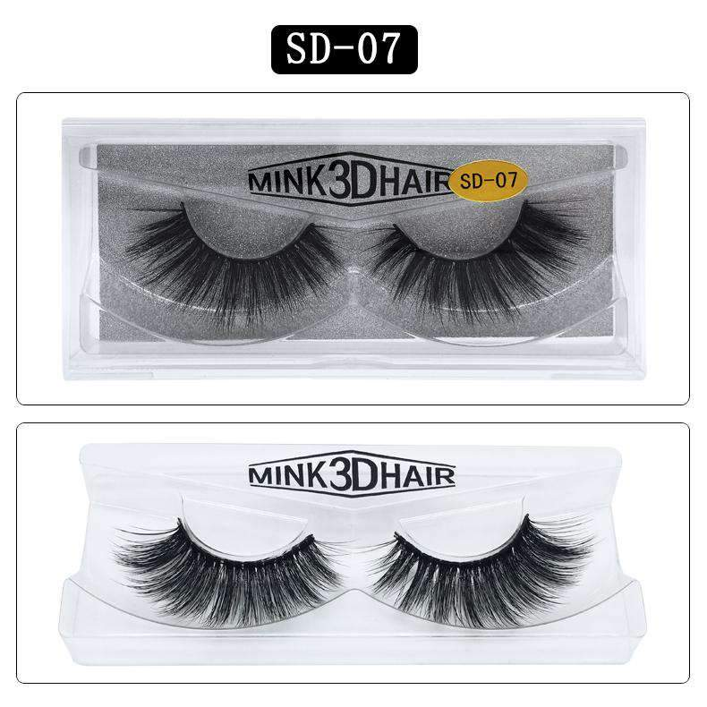 Mink Hair Natural Looking False Fake Eyelashes Cross Thick Eye Lashes sd07