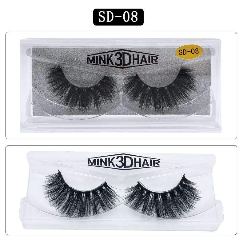 Mink Hair Natural Looking False Fake Eyelashes Cross Thick Eye Lashes sd08