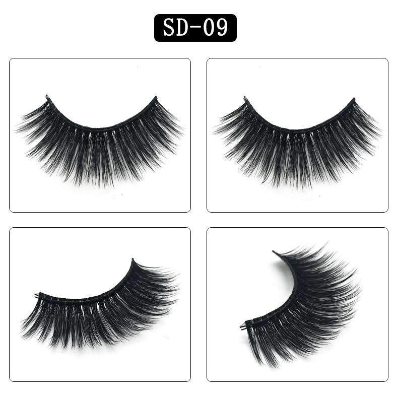 Mink Hair Natural Looking False Fake Eyelashes Cross Thick Eye Lashes sd09