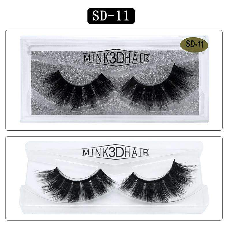 Mink Hair Natural Looking False Fake Eyelashes Cross Thick Eye Lashes sd11