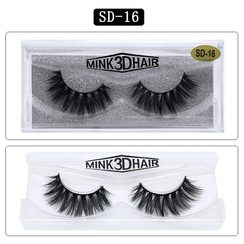 Mink Hair Natural Looking False Fake Eyelashes Cross Thick Eye Lashes sd16
