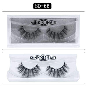 Mink Hair Natural Looking False Fake Eyelashes Cross Thick Eye Lashes sd66