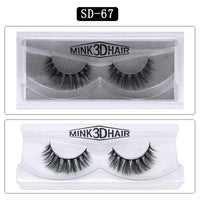 Mink Hair Natural Looking False Fake Eyelashes Cross Thick Eye Lashes sd67
