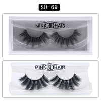 Mink Hair Natural Looking False Fake Eyelashes Cross Thick Eye Lashes sd69