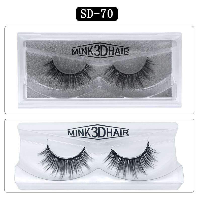 Mink Hair Natural Looking False Fake Eyelashes Cross Thick Eye Lashes sd70