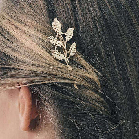 Leaf Shaped Decorated Hair Clip gallery 2