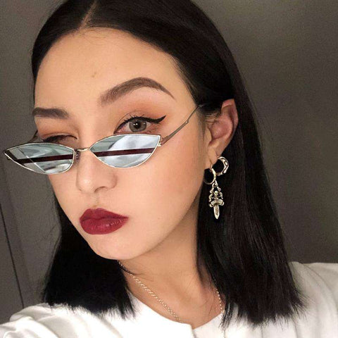Premium Chic Narrow Oval Shape with Metal Frame Sunglasses gallery 1