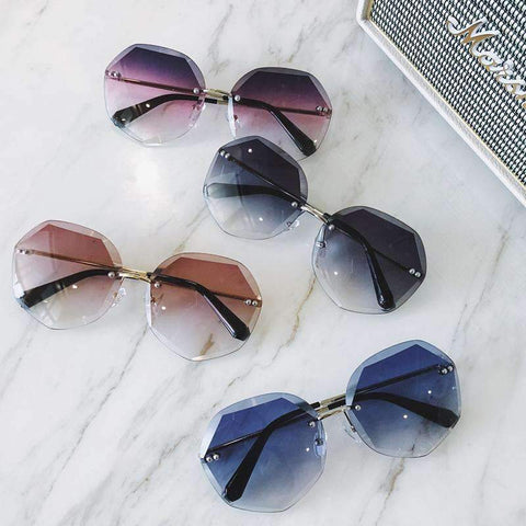 Chic Circle Shape Resin Lens With Cut Side Sunglasses gallery 3